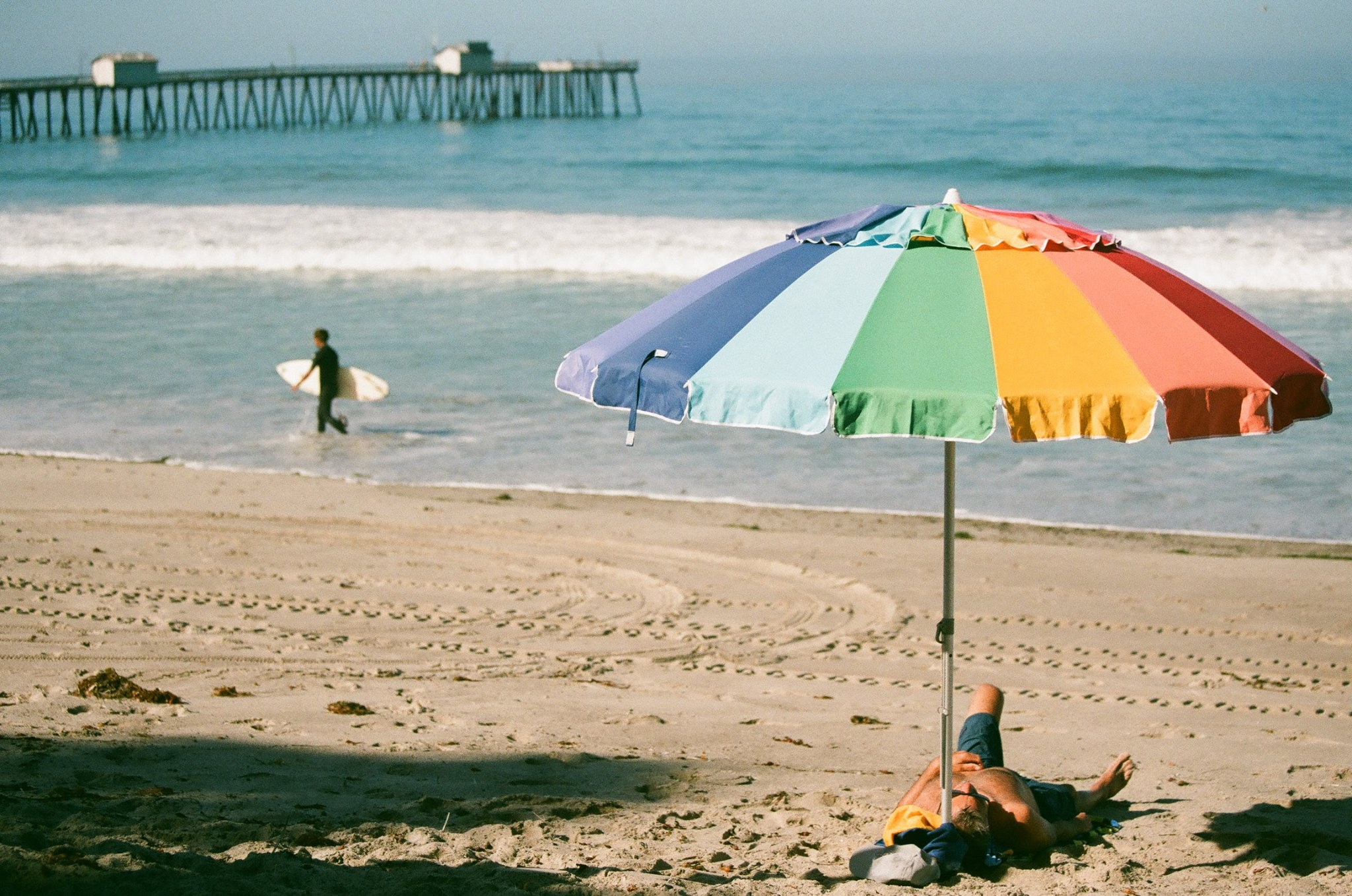 Fujicolor Canon 1V — at San Clemente Beach and Pier