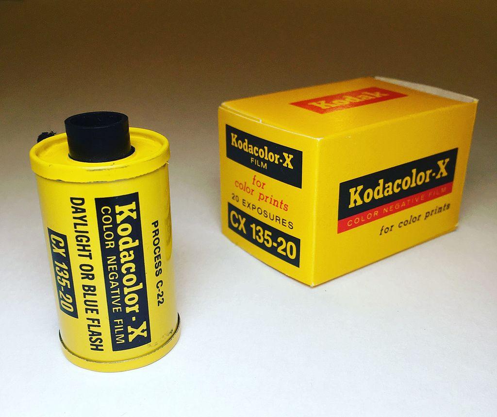 Kodacolor-X 35mm Film Cartridge and Box