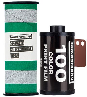 Lomo 100 lomography film 120 and 35mm