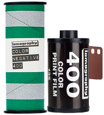 Lomo 400 lomography film 120 and 35mm