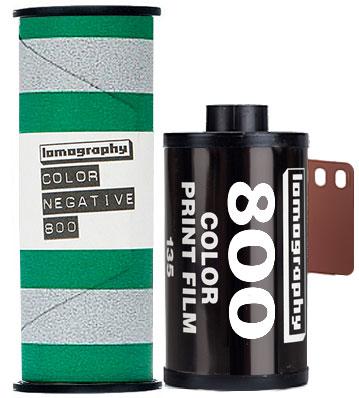 Lomo 800 Lomography film 120 and 35mm
