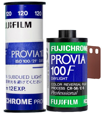 Fujifilm Provia 100F 35mm 120 film