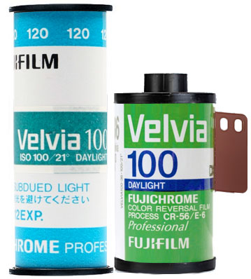 Fujifilm Velvia 50 35mm 120 film