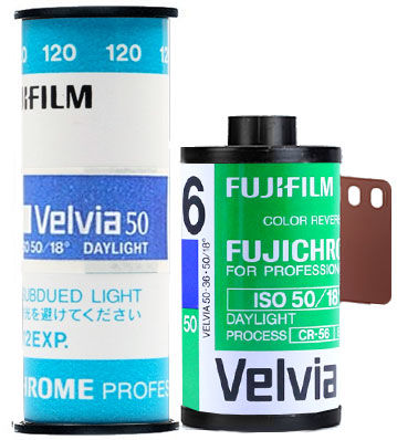 Fujifilm Velvia 50 120 35mm film