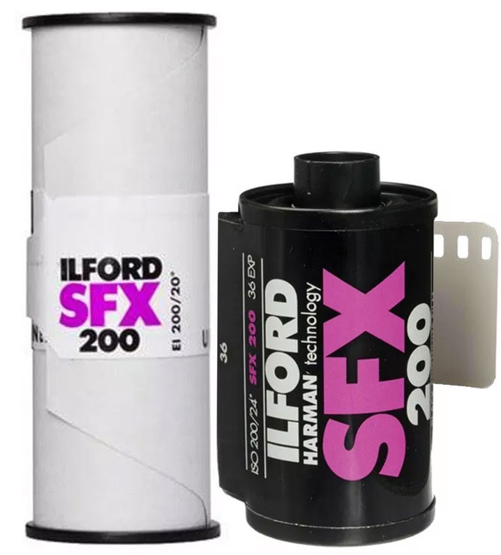 Ilford SFX 200 ISO 120 35mm film