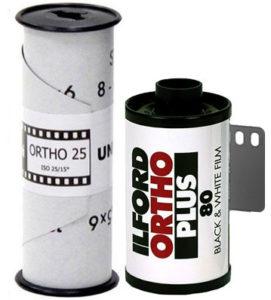 Illford Ortho Plus 35mm 120 film