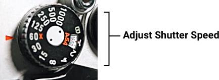 Adjust camera Shutter Speed
