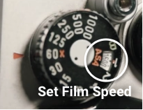 Set camera film speed
