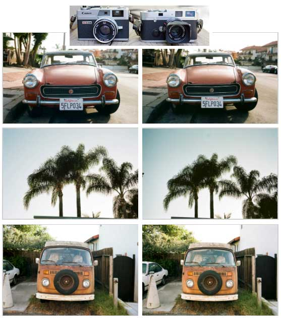 Leica vs. Canonet Color Comparison