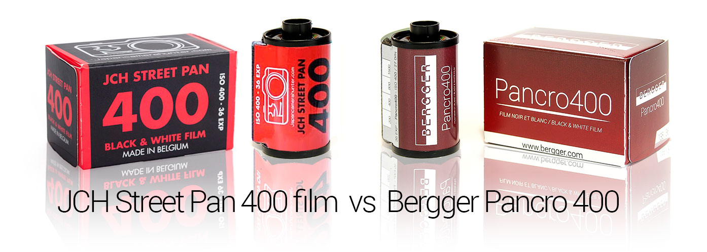 Bergger Pancro 400 vs JCH Street Pan 400 film header
