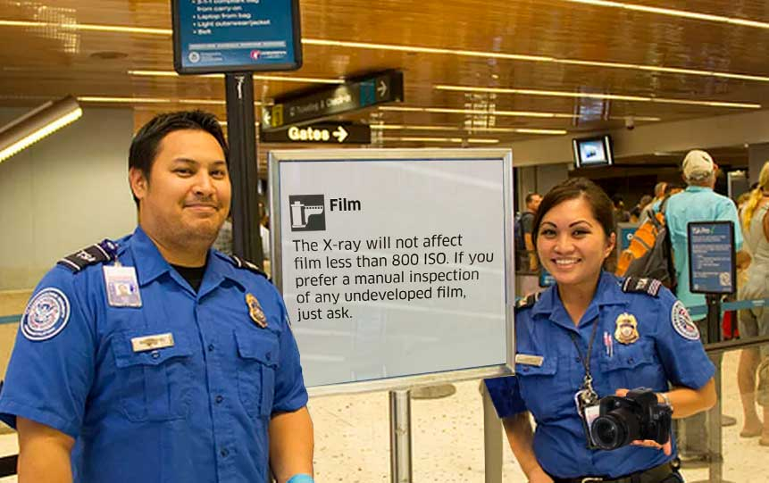 Airport security X-Ray your film