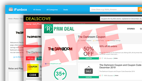 Fake The Darkroom coupon codes