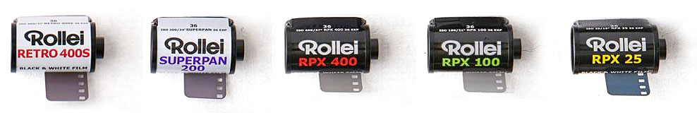 Rollei film lineup